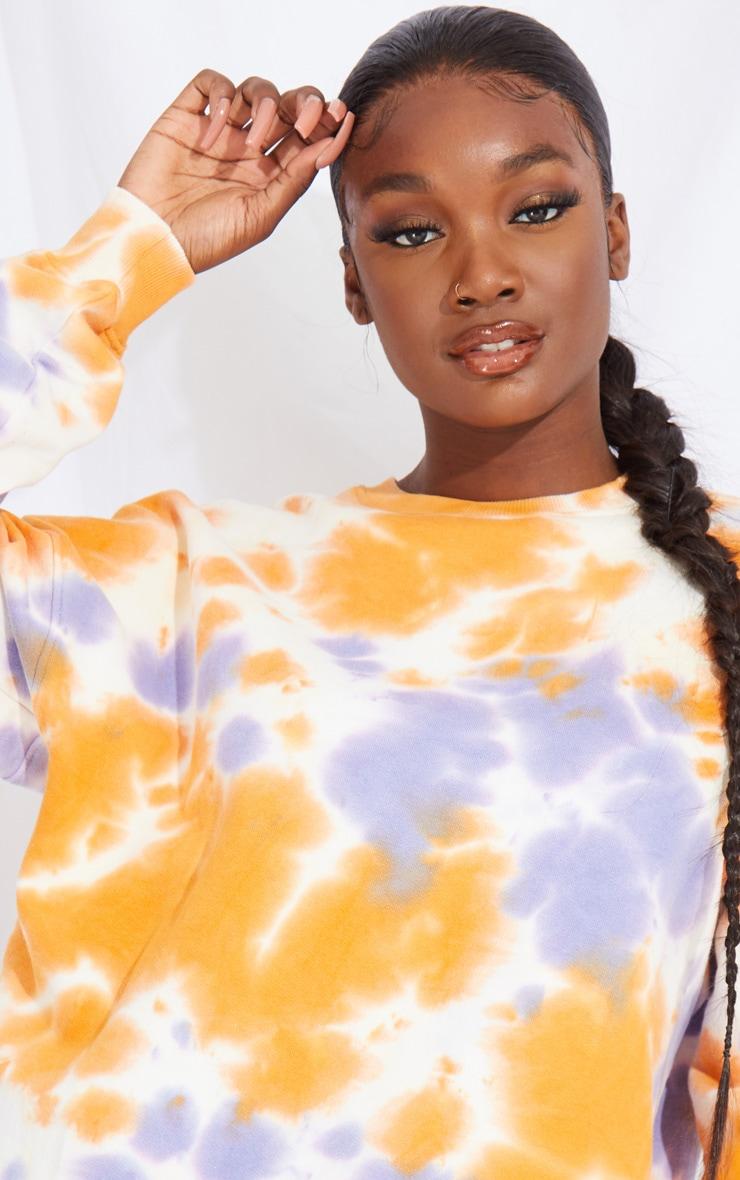 Tall Orange Oversized Tie Dye Sweater 4
