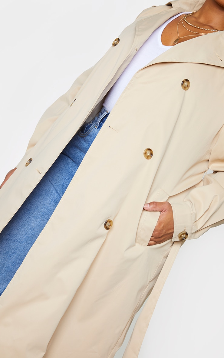 Plus Stone LightWeight Belted Trench Coat 4