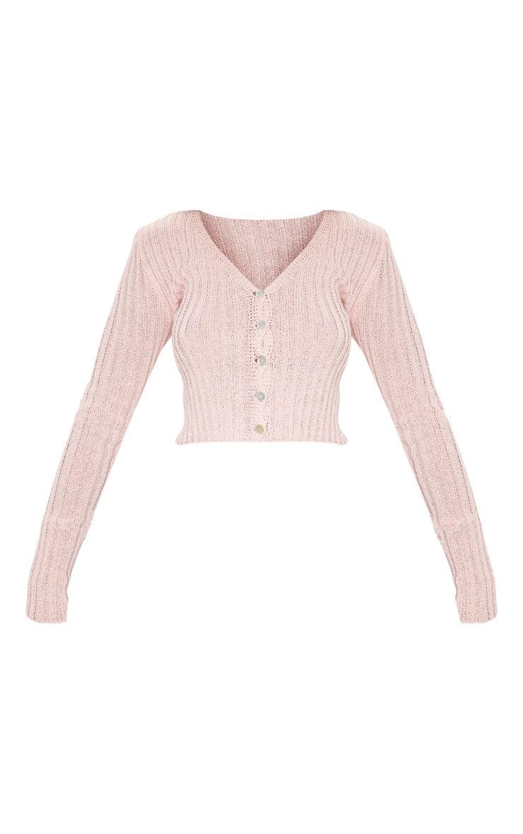 Baby Pink Skinny Fit Cardigan 3