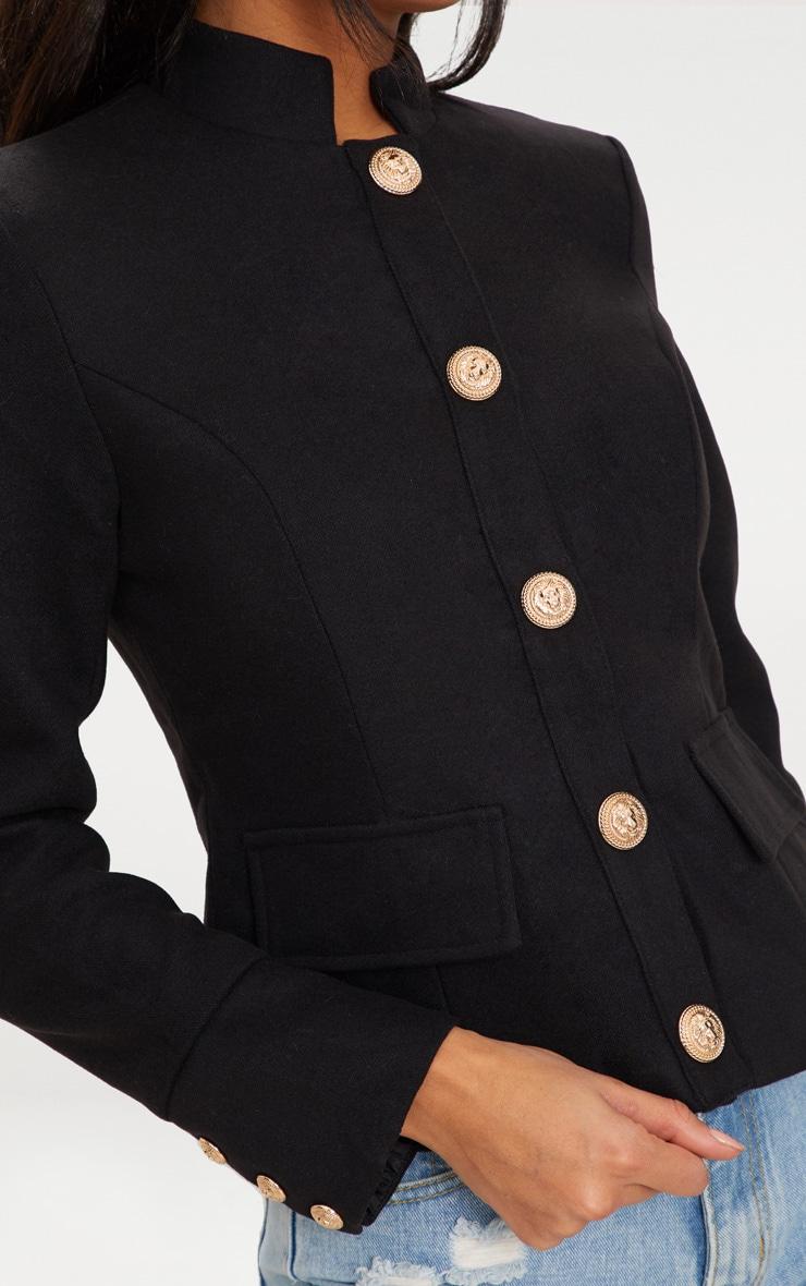 Black Military Jacket 5