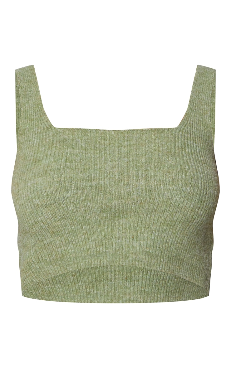 RENEW Olive Knitted Cropped Top 5