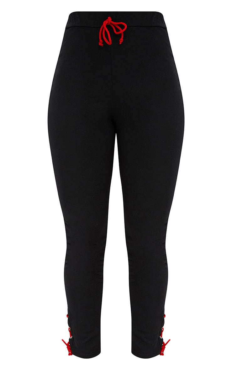 Black Lace Up Side Joggers 3