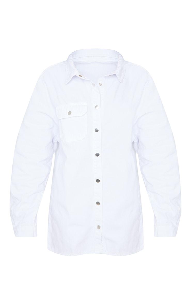 Off White Popper Denim Shirt 5