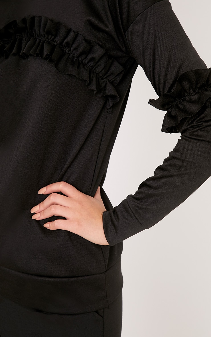 Anabell Black Frill Sweater 5