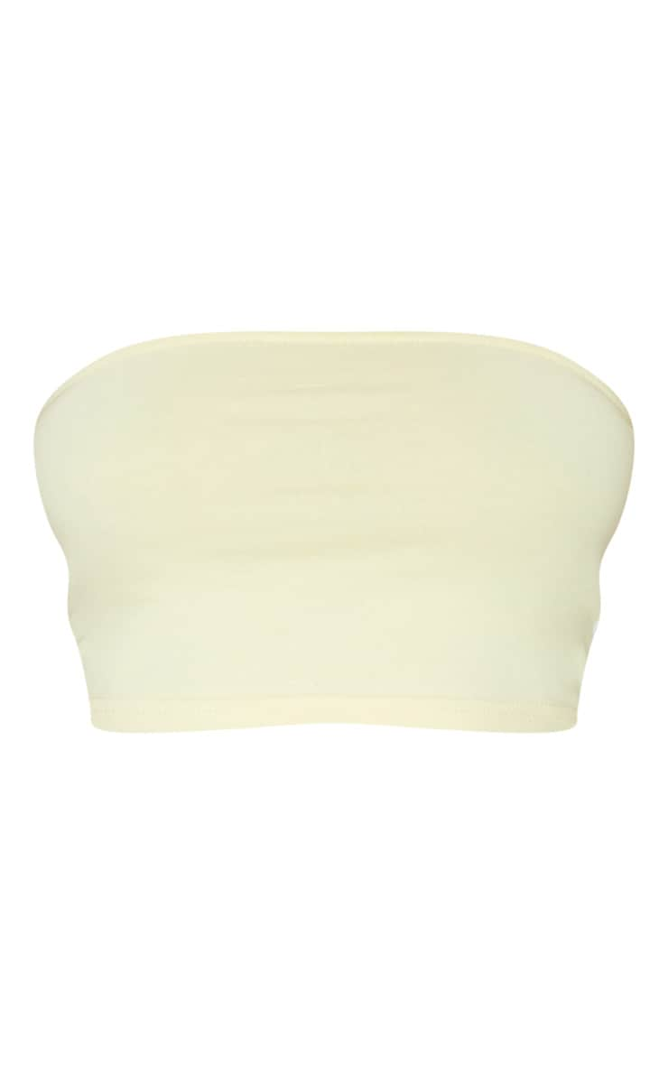 Cream Sport Stripe Bandeau Crop Top 5