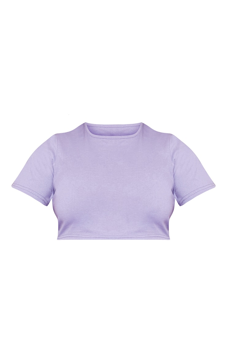 RECYCLED Plus Violet Crop T Shirt 3