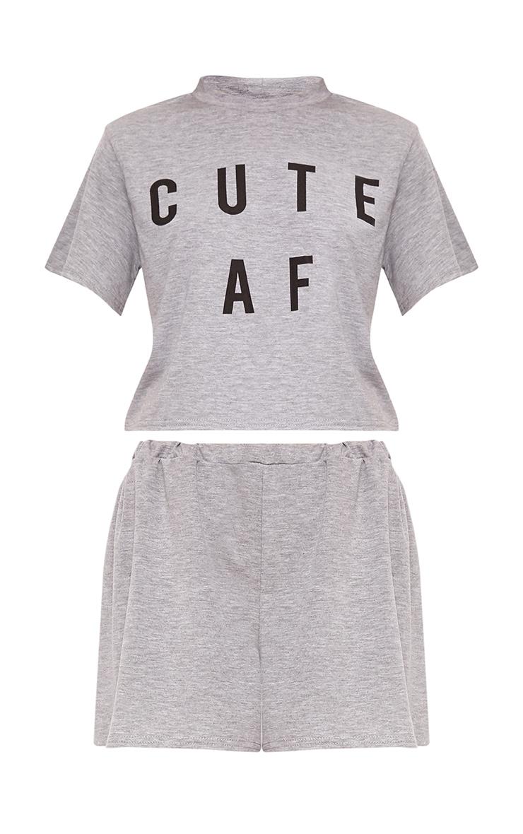 Grey Cute AF PJ Set 3