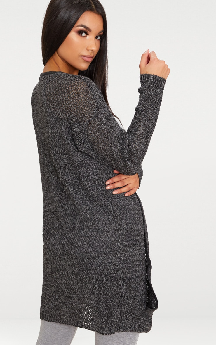 Charcoal Lightweight Cardigan 2