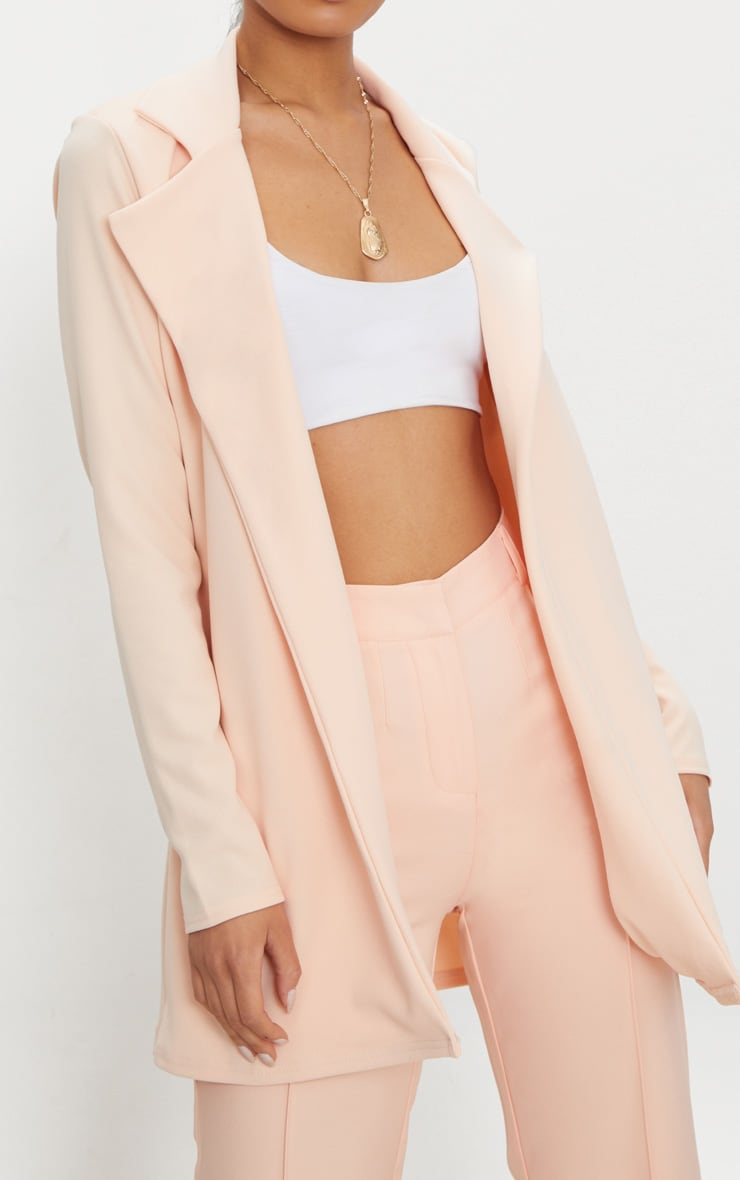 Blazer long nude 5