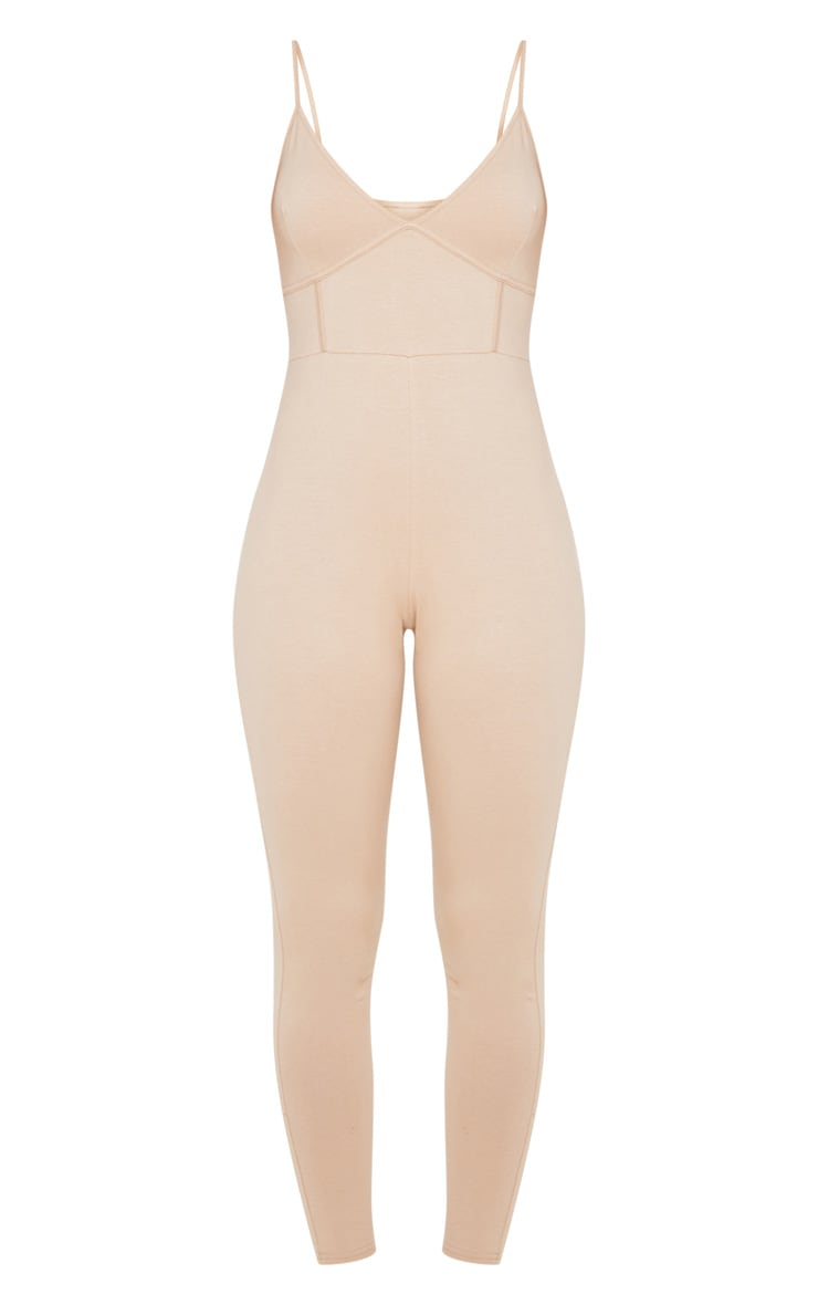 Stone Strappy Binding Detail Plunge Jumpsuit 3