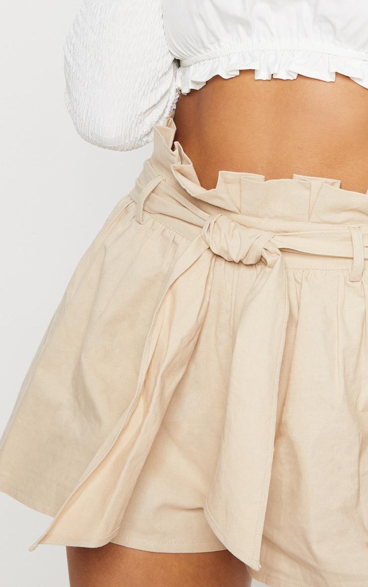 Stone Paperbag Tie Waist Short 5