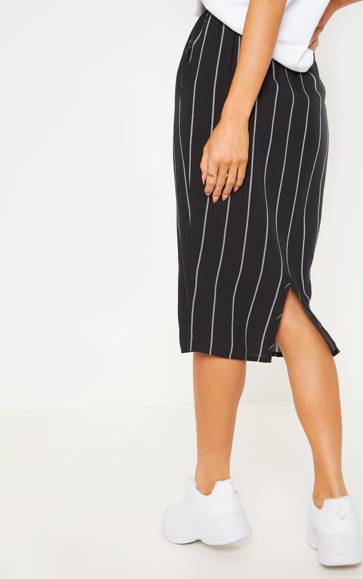 Black Casual Midi Skirt 4