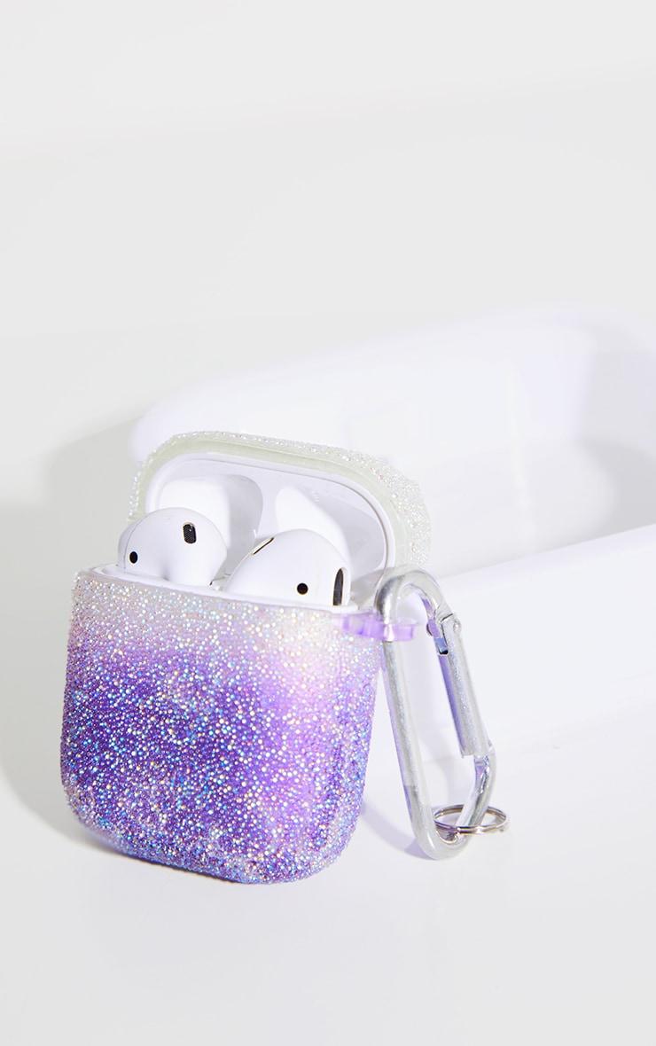Purple Glitter Airpod Case 1