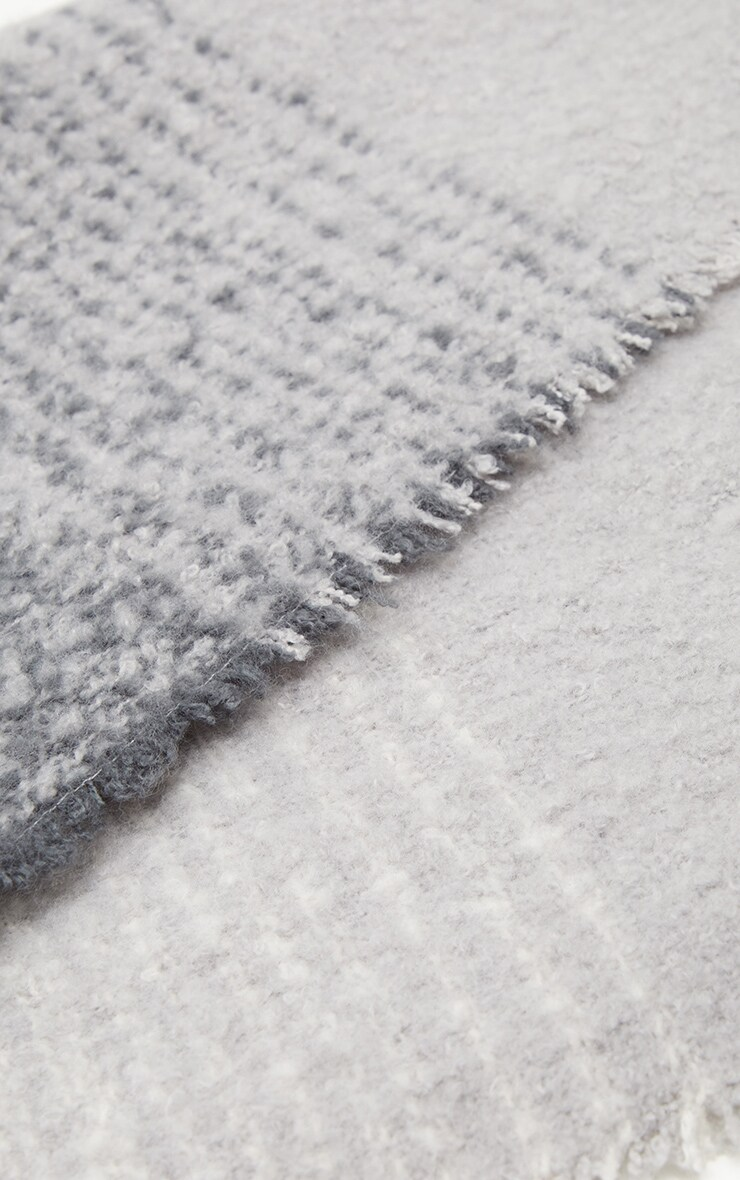 Grey Mini Blanket Scarf 3