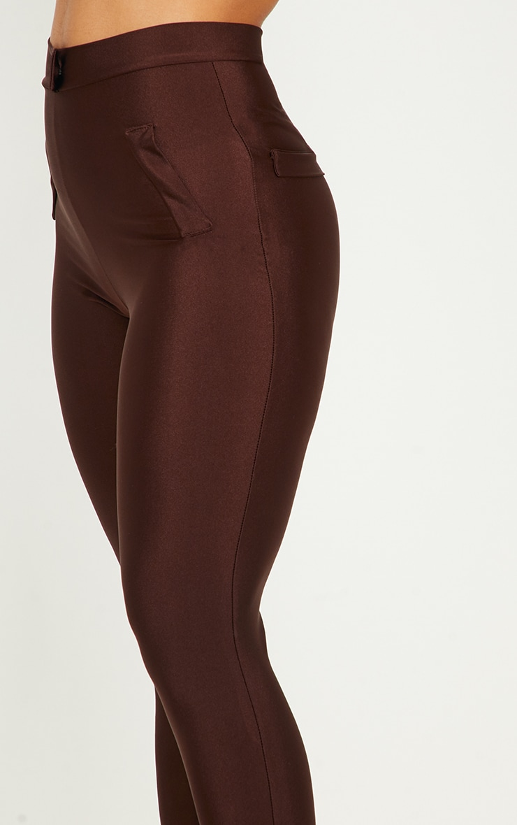 Chocolate Disco Split Hem Skinny Trouser  5
