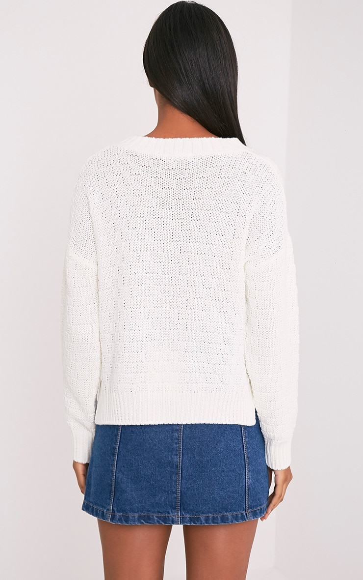 Chyanne Cream Cable Knit Jumper 2