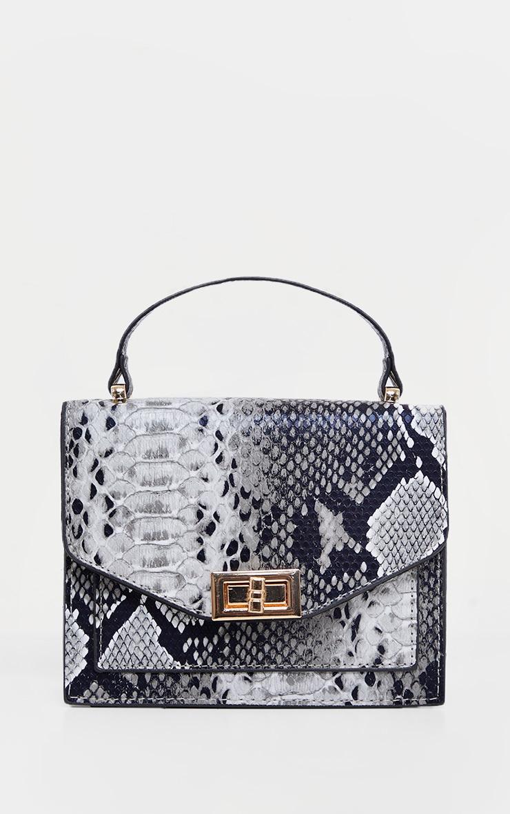 Grey Snake Cross Body Bag 3