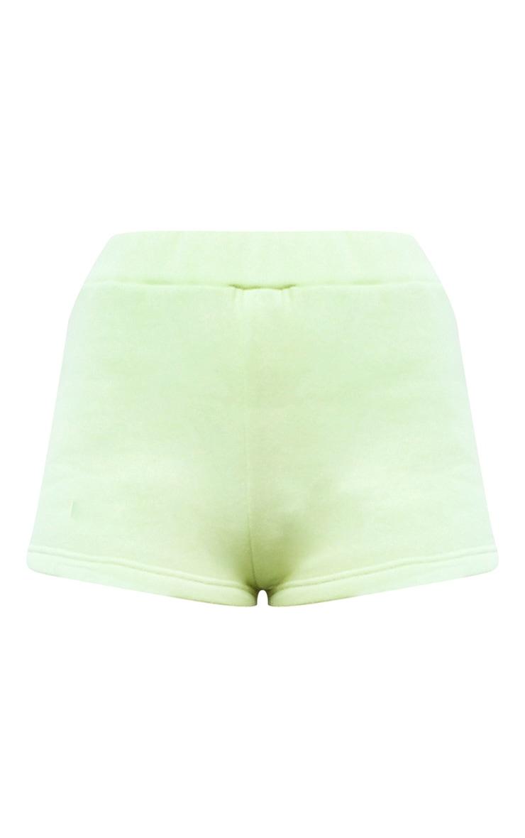 Lime High Waist Sweat Hot Pants 6
