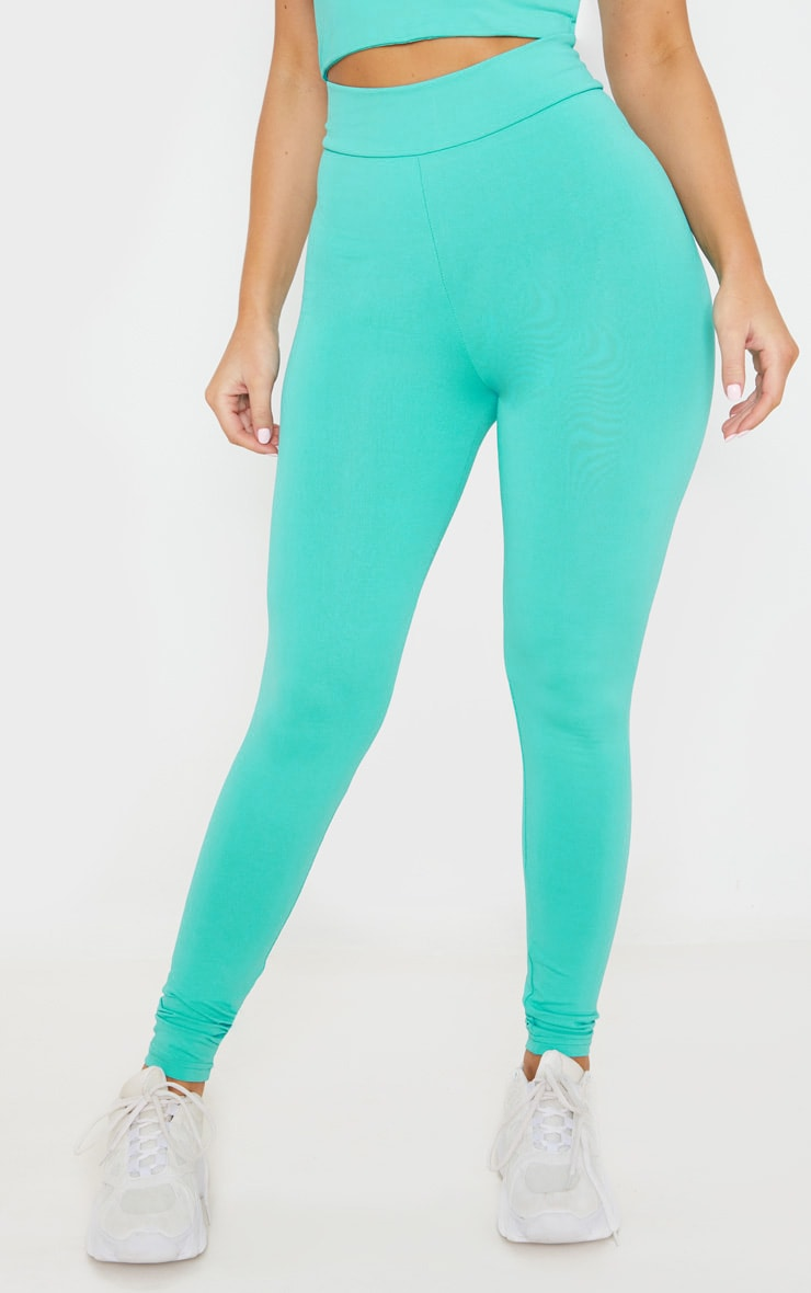 Turquoise Luxe High Waist Gym Legging 2