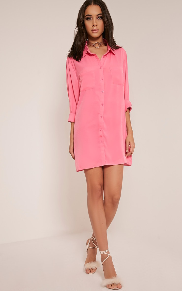 Effy Bubblegum Pink Shirt Dress 9
