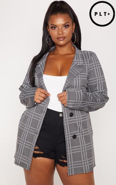 2e4c0b7957c70 Plus Grey Checked Blazer