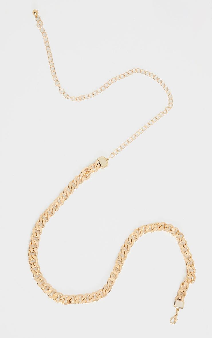 Gold Chunky Single Chain Belt 2