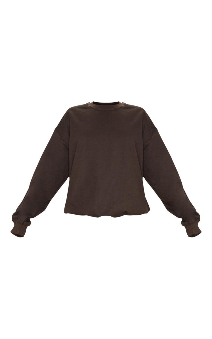 Chocolate Ultimate Oversized Sweatshirt 6