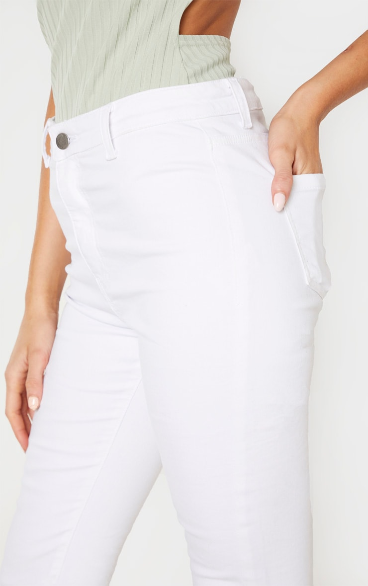 Tall White Super Stretch Skinny Jeans 5