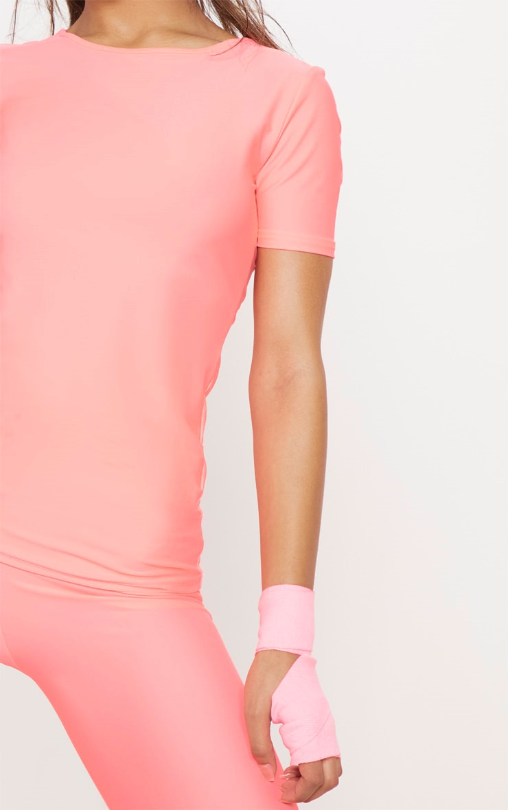Pink Basic Short Sleeve Gym Top 5