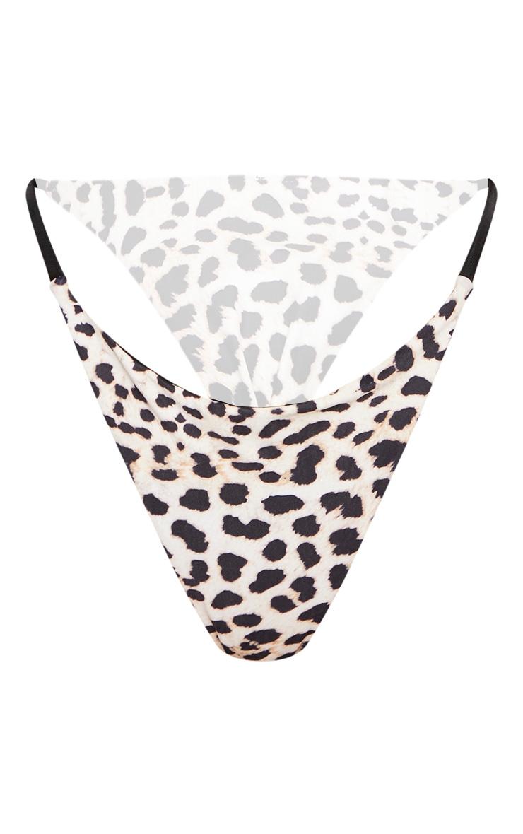 Bas de bikini style mini string imprimé léopard 6