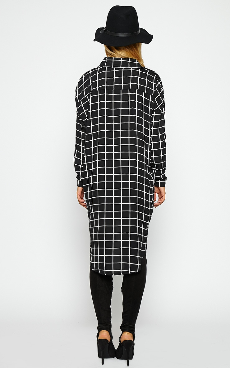 Rhona Black Check Shirt Dress 2
