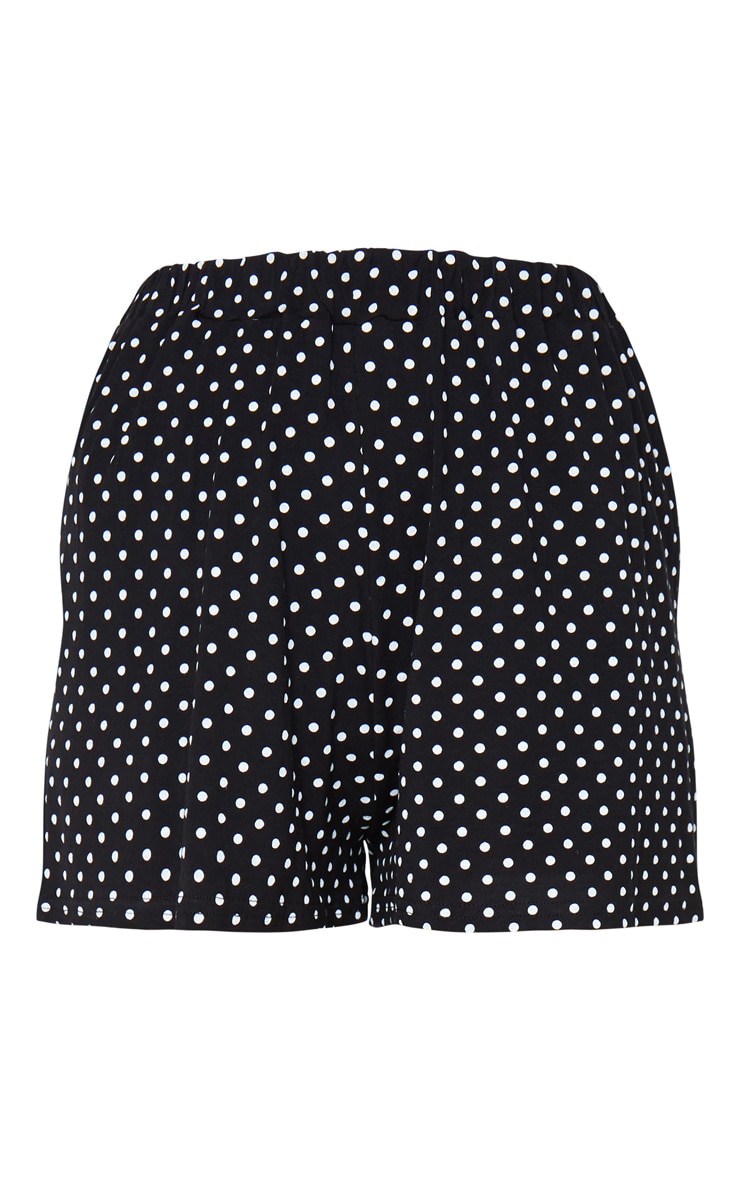 Black Jersey Floaty Polka Dot Short 6