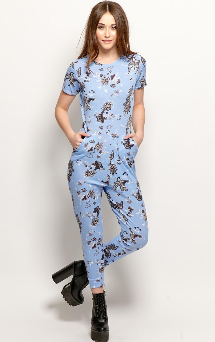Jadie Blue Paisley Jumpsuit 3