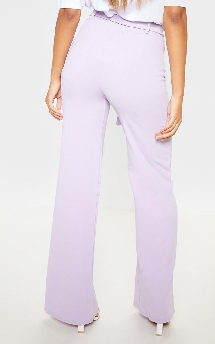 Lilac Tie Waist Wide Leg Trouser 4