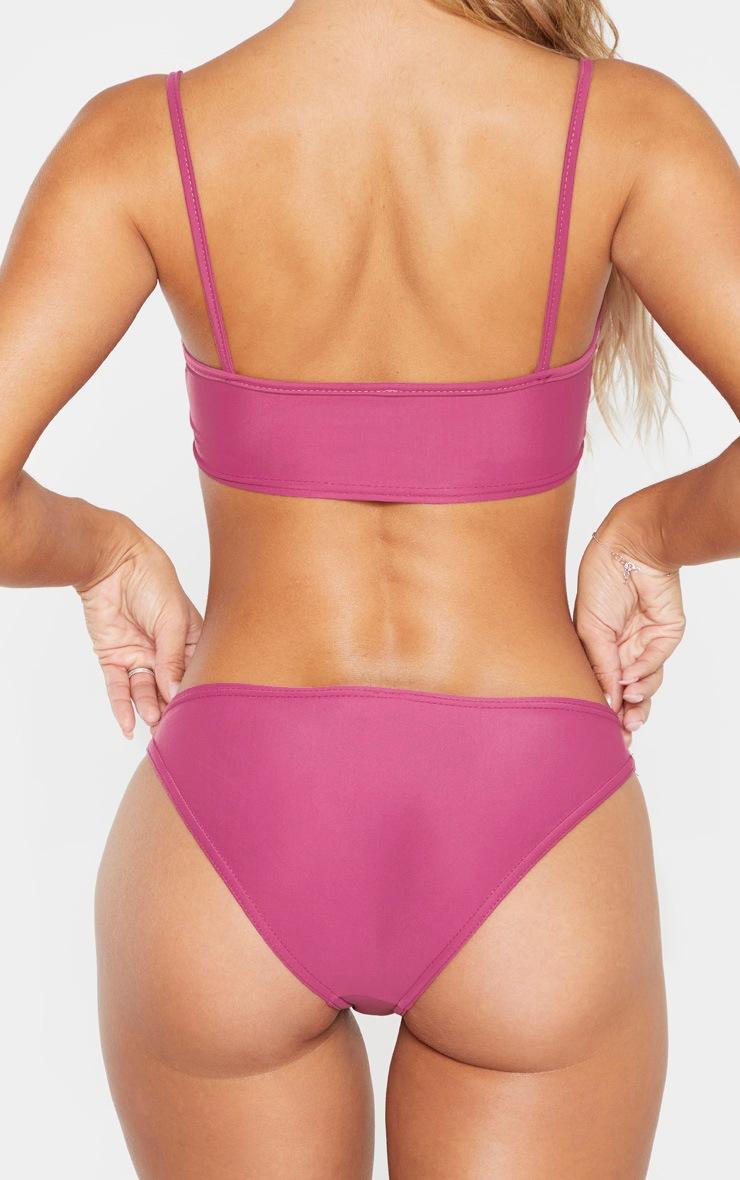 Pink High Leg Bikini Bottom 3