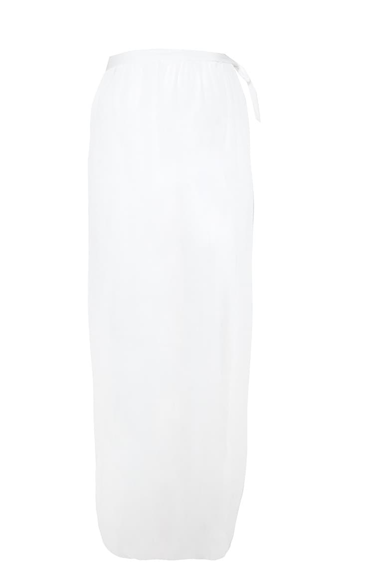White Tie Side Maxi Beach Sarong 3