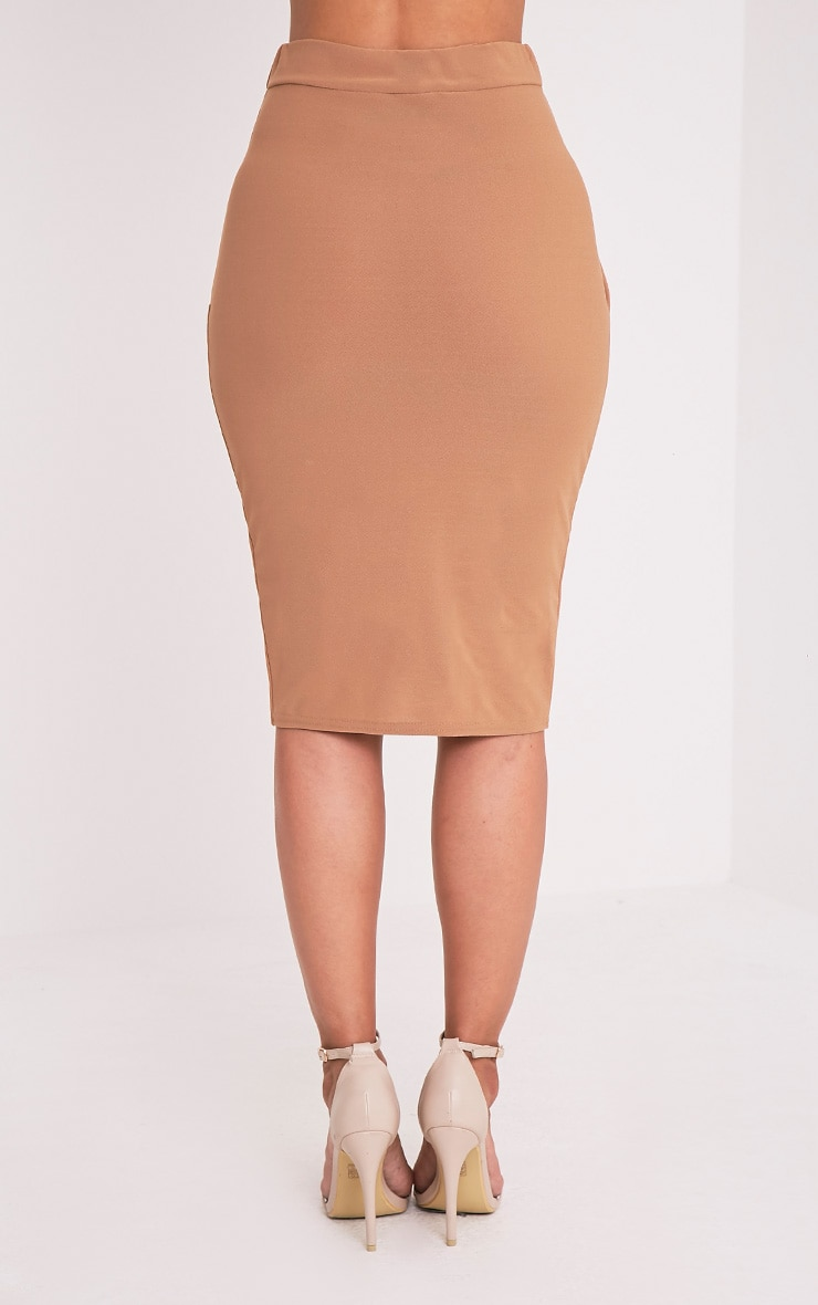 Aislynn Camel Wrap Midi Skirt 5