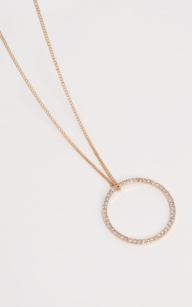 Gold Delicate Ring Necklace 3