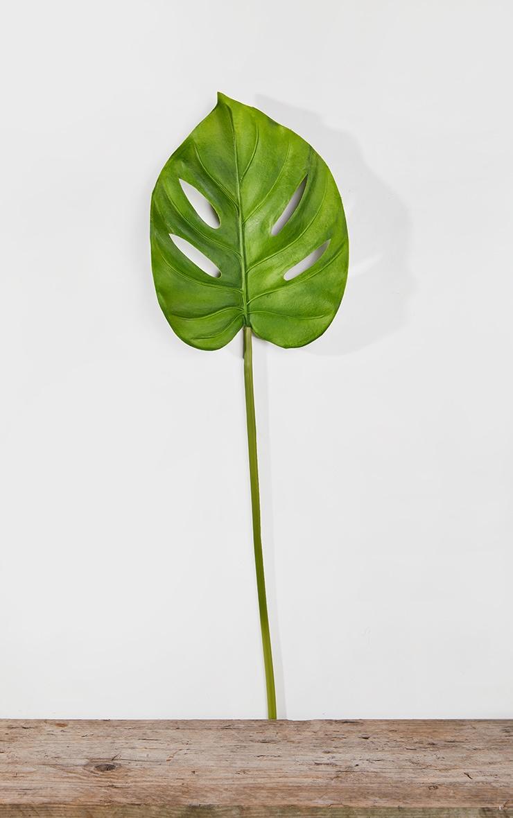 Green Artificial Single Monstera Leaf 3