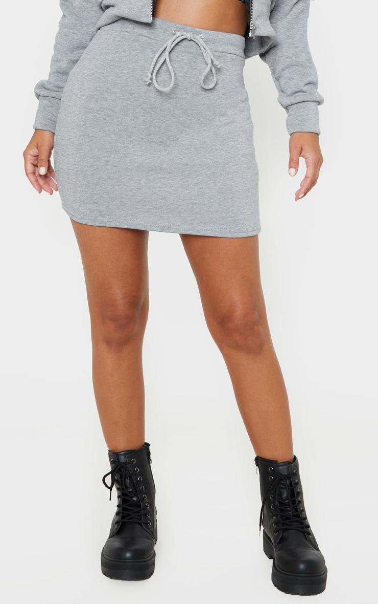 Petite Grey Sweat Skirt 2