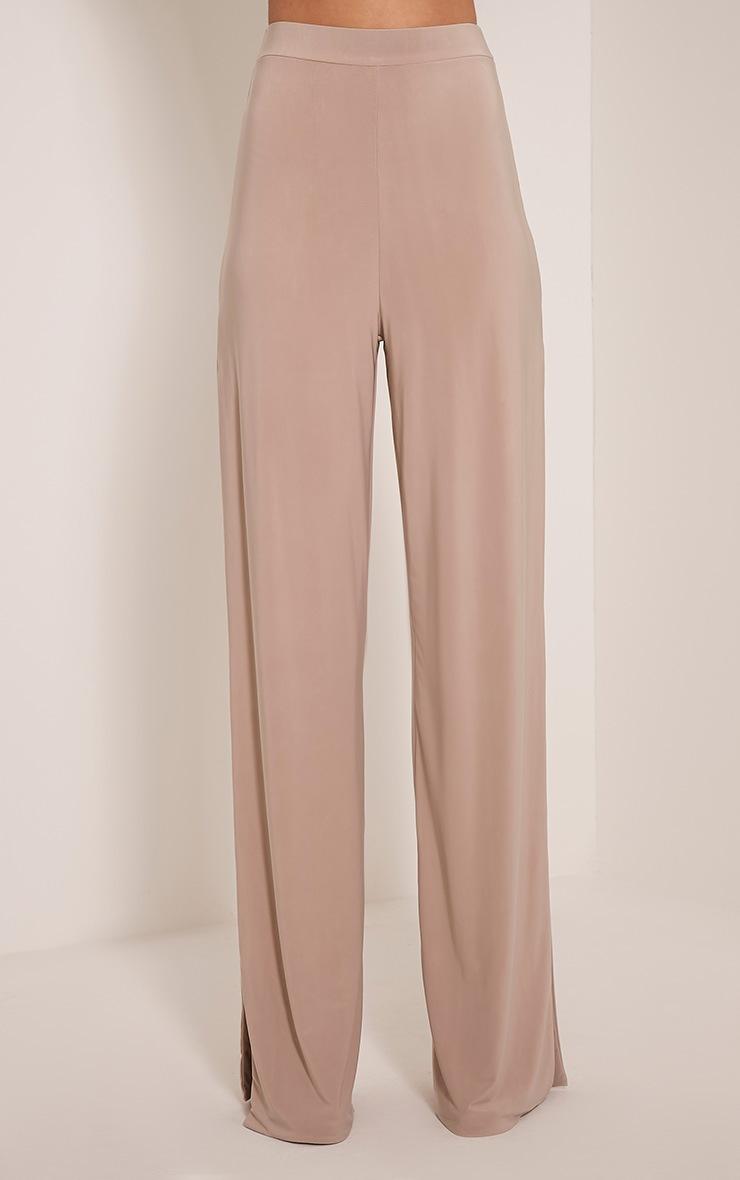 Darsee Stone Side Split Slinky Trousers  2