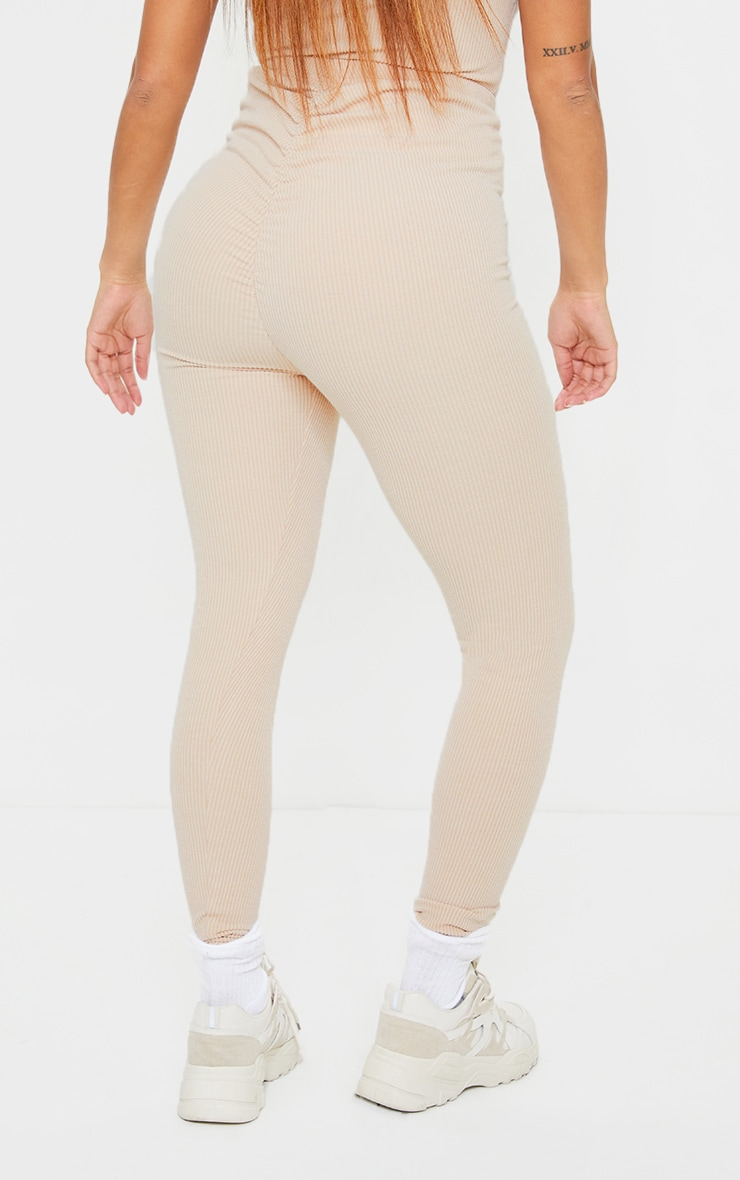 Shape Stone Textured Rib Ruched Bum Leggings 3