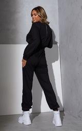 RENEW Maternity Black Long Sleeve Sweat Jumpsuit 2