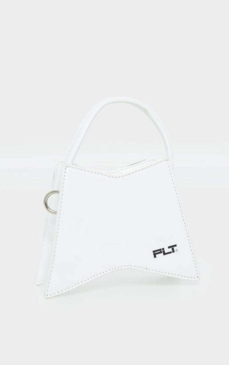 PRETTYLITTLETHING White Triangular Mini Bag 3