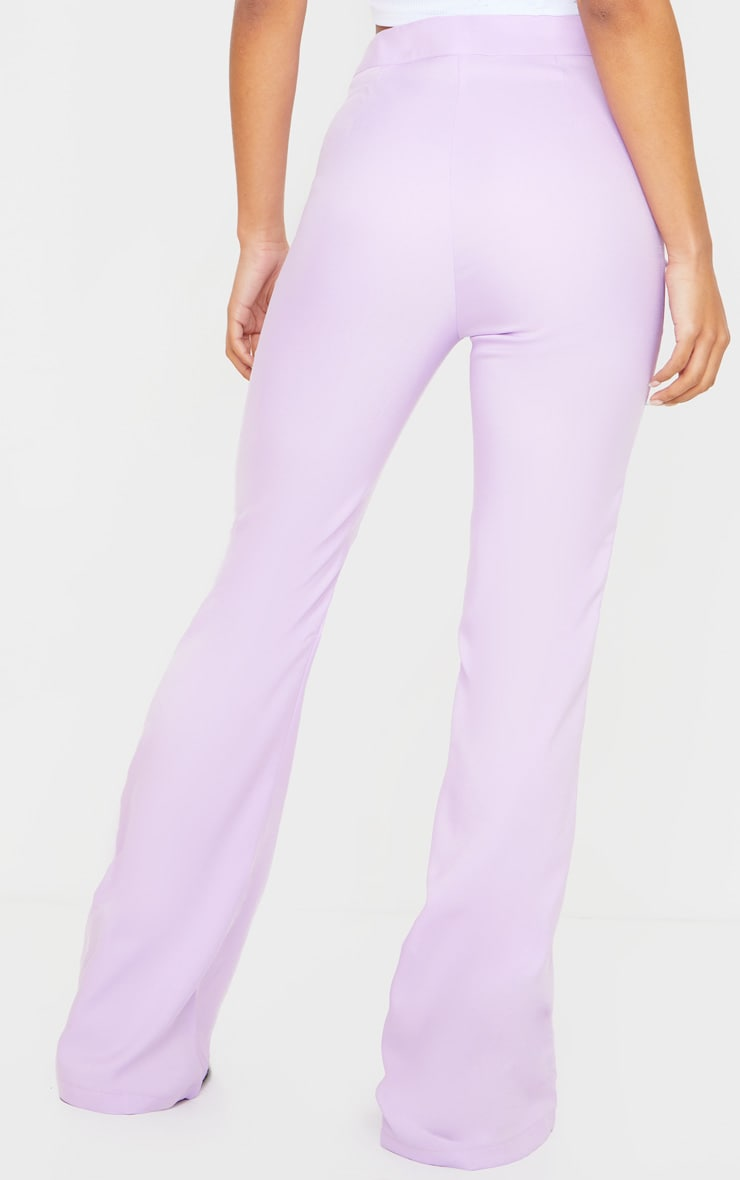 Plain Lilac Flared Pants 3