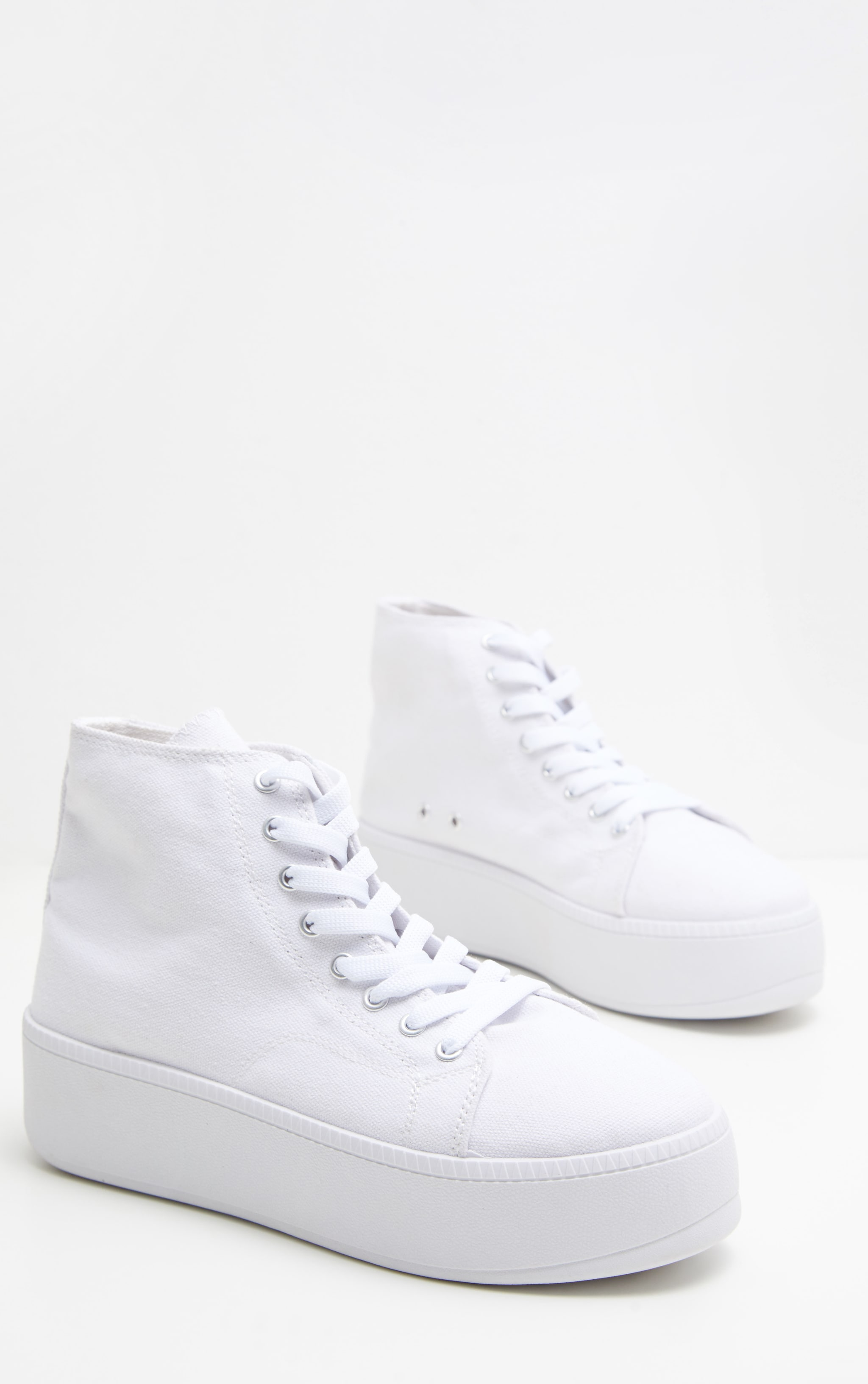 White Flatform High Top Sneakers 3