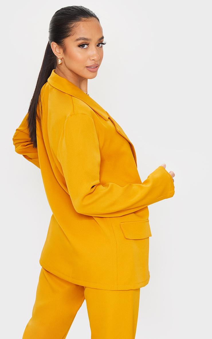Petite Mustard Double Breasted Blazer 2