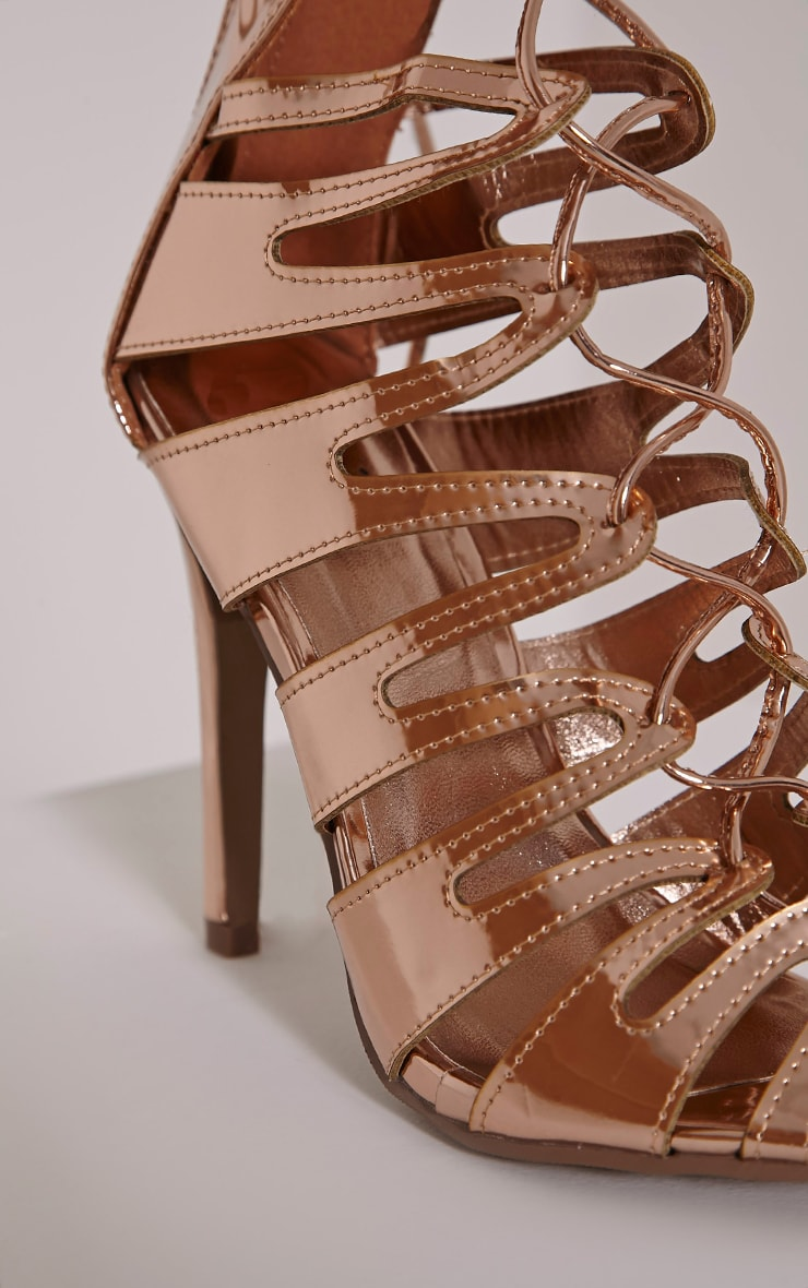Lizeth Rose Cut Out Heeled Sandals 6