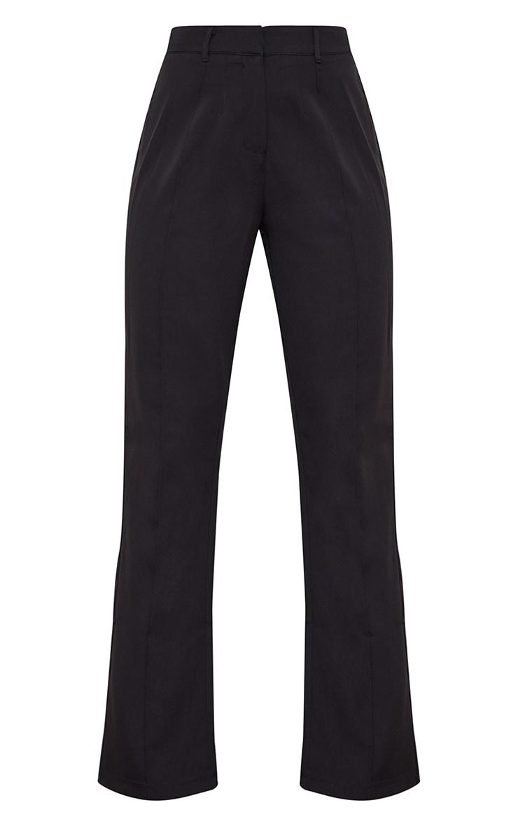 Black Wide Leg High Waist Pants 5