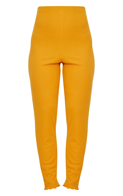 Mustard Rib Frill Hem Legging 3